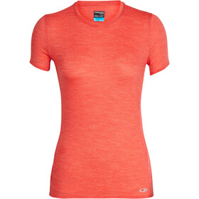 Icebreaker Amplify Low Crewe T-shirt Dames, ember heather